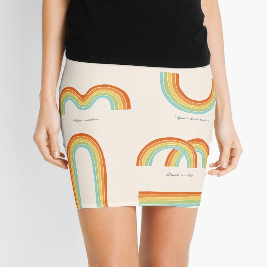 Know Your Rainbows Mini Skirt