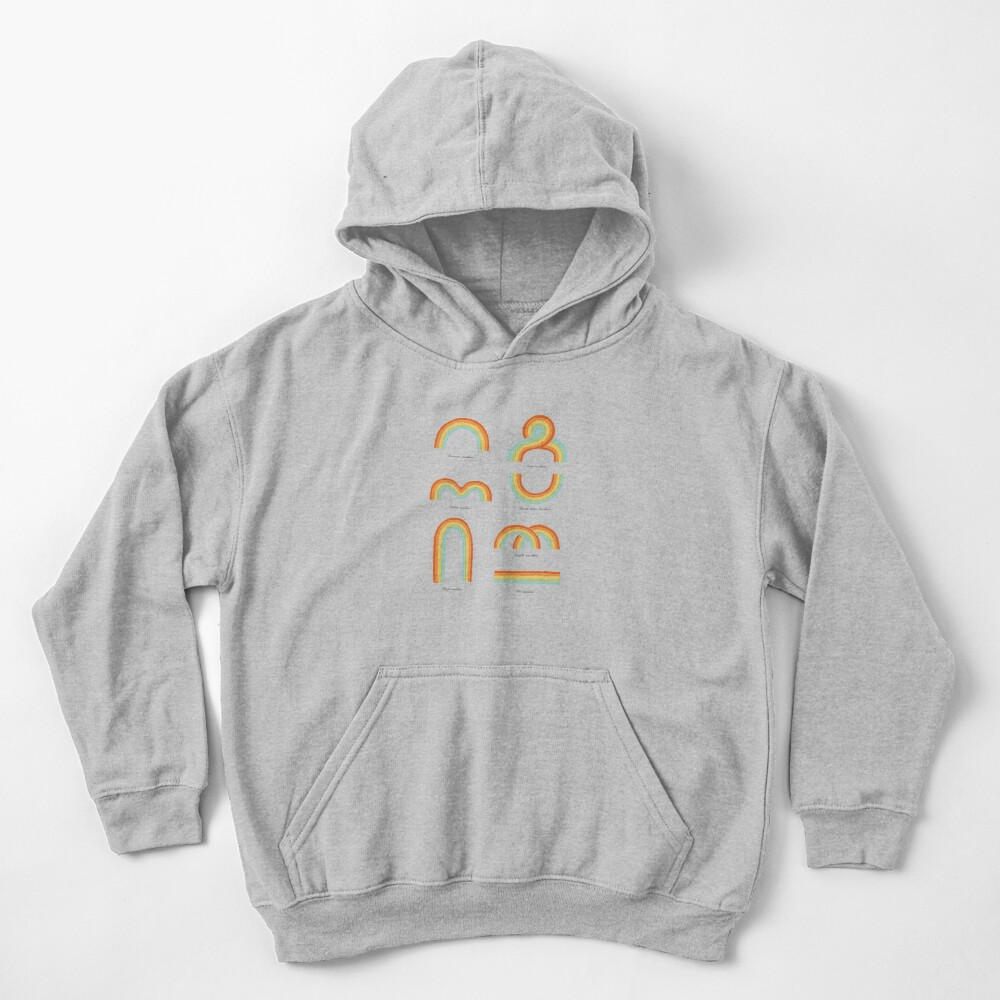 Know Your Rainbows Kids Pullover Hoodie