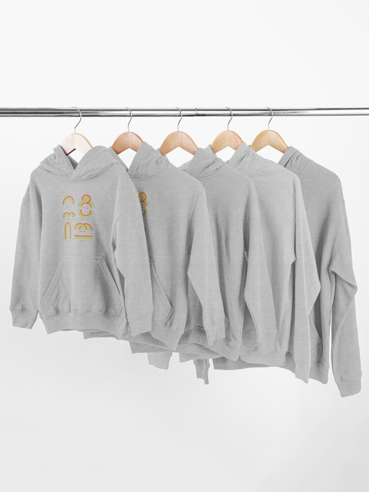 Alternate view of Know Your Rainbows Kids Pullover Hoodie