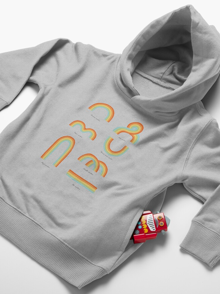 Alternate view of Know Your Rainbows Toddler Pullover Hoodie