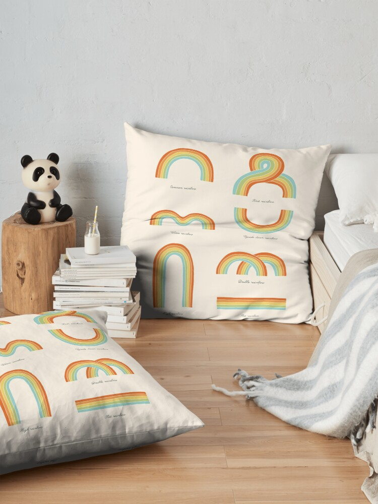 Alternate view of Know Your Rainbows Floor Pillow