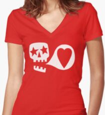 We love you Fitted V-Neck T-Shirt