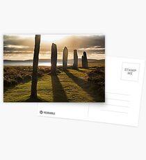 Shadows at Brodgar (Orkney Isles) Postcards