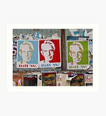 A Bill Among Playbills  Art Print