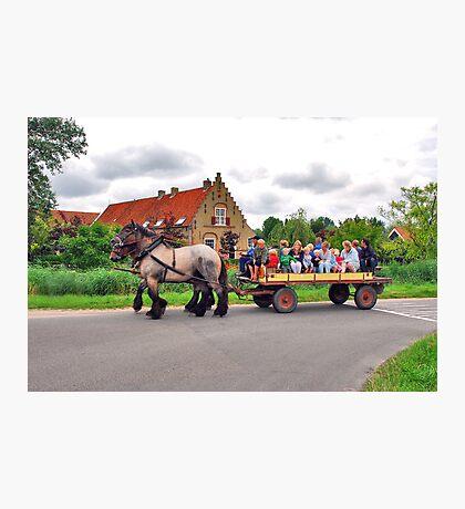 A joyous ride Photographic Print