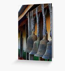 Glocken - Santiago, Bolivien Grußkarte
