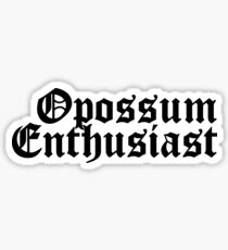 Opossum Enthusiast Sticker