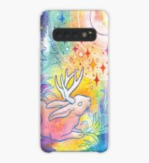 Jackalope of the Night | Rainbow Moon Painting Case/Skin for Samsung Galaxy