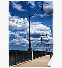 Lamppost Walkway Poster