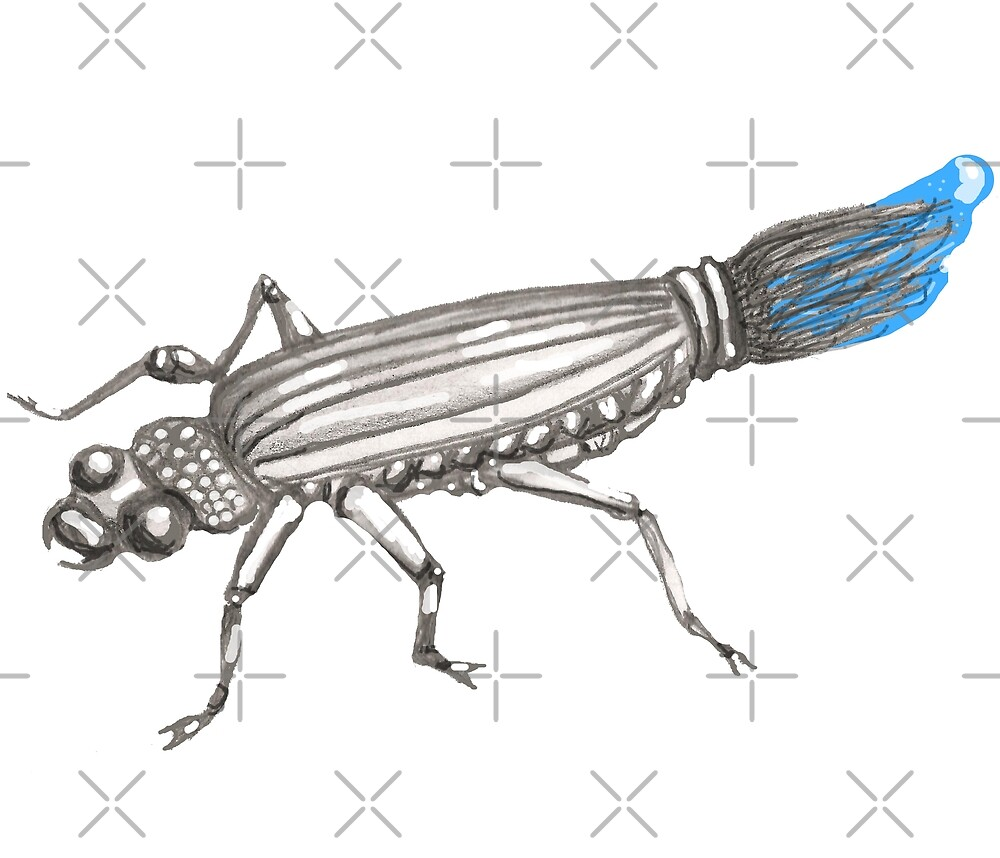 Buggin'  brush beetle by Vicki Noble