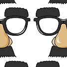 GROUCHO GLASSES Vintage Art by Bruce ALMIGHTY Baker