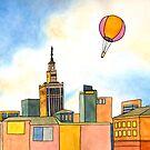 Hot Air Balloon over Warsaw by Tim Gorichanaz