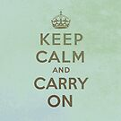 Keep Calm and Carry One by houk