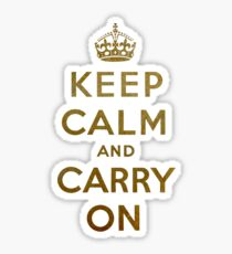 Keep Calm and Carry One Sticker