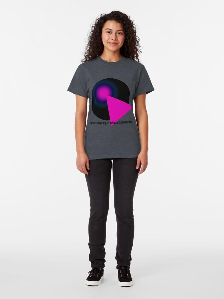 Alternate view of IDIC Black & Hot Pink Classic T-Shirt