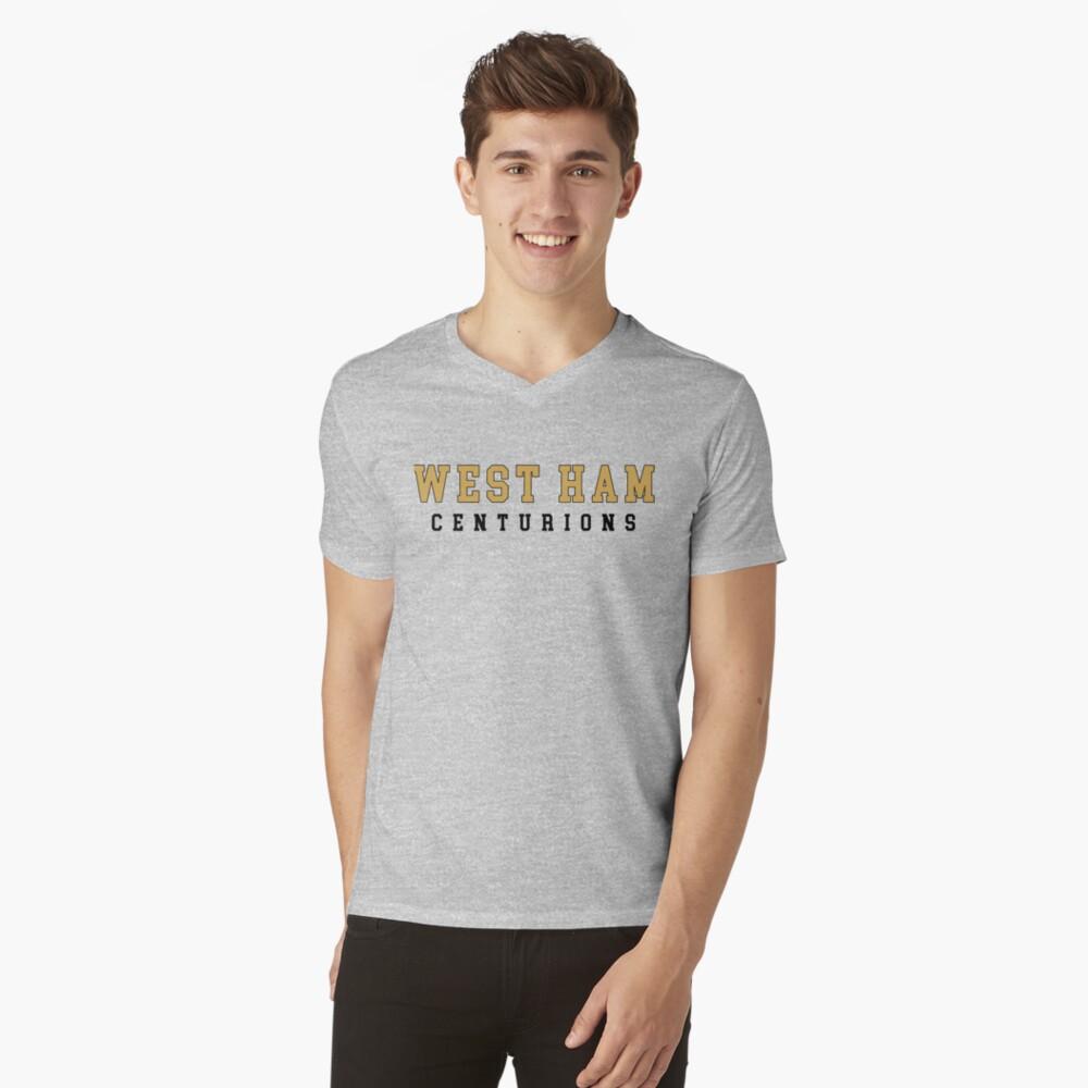 Die Gesellschaft - West Ham High T-Shirt mit V-Ausschnitt
