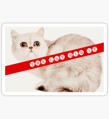 Funny Cats and True Crime  Sticker