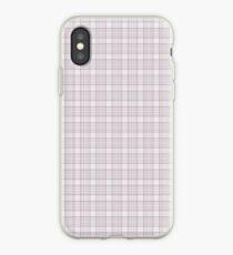 Mauve Dusty Mauve Grid Checks iPhone Case