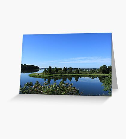 Beauty of New England USA  in summer time photography  Greeting Card