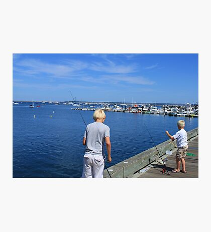 Two young fishermen  Photographic Print