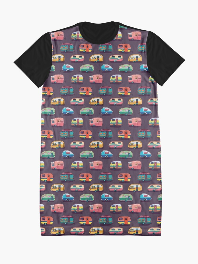 Alternate view of Happy camper Graphic T-Shirt Dress