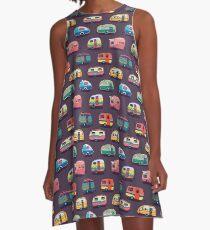 Glücklicher Camper A-Linien Kleid