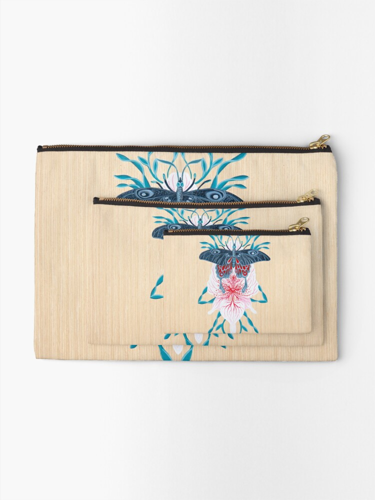 Vista alternativa de Bolsos de mano Pintura de tatuaje de orquídea mariposa en madera