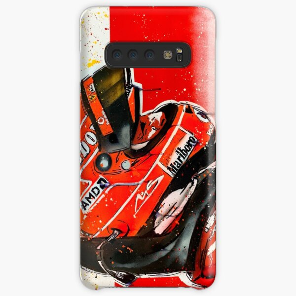 Michael Schumacher - Ferrari F1 graffiti painting by DRAutoArt Samsung Galaxy Snap Case