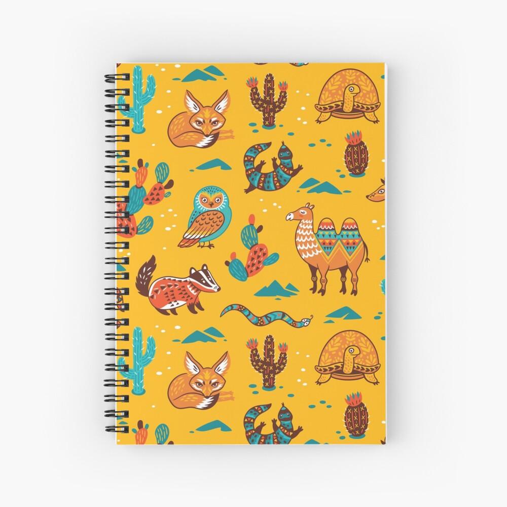Desert animals Spiral Notebook
