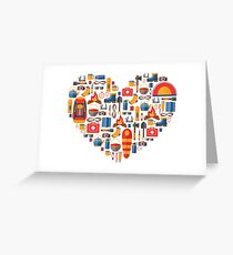 Hiking and tourism love Greeting Card