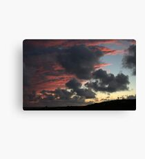leaking color sunset  Canvas Print