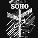 SoHo New York - Weiß auf Schwarz von XOOXOO