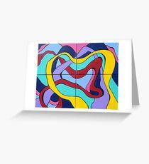 Ribbon Quartet Greeting Card