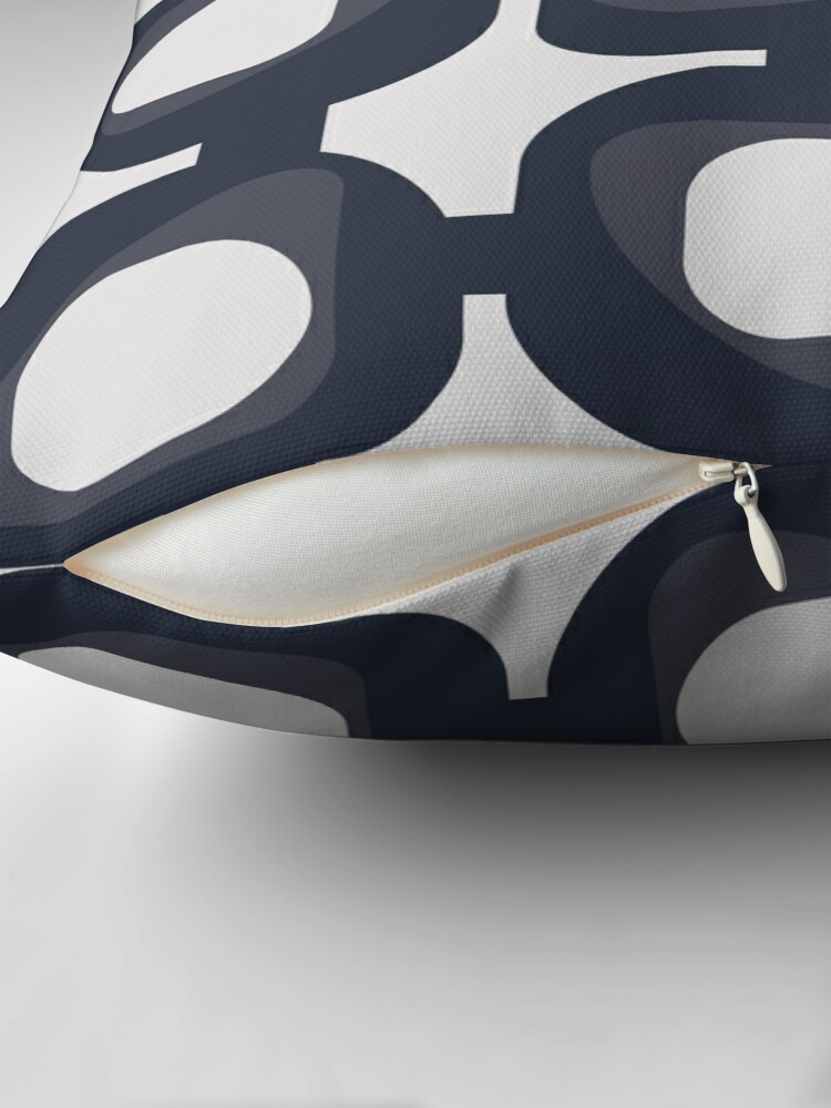 Alternate view of Blue Grey Nine Times Three Floor Pillow