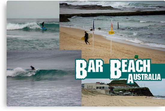 Surfing At Bar Beach by reflector