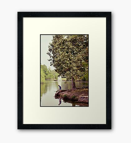Audubon Park Lagoon Framed Print