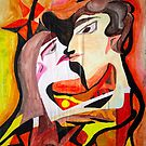 abstract kiss by BBS ART