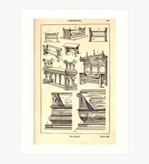 A Handbook Of Ornament With Three Hundred Plates Franz Sales Meyer 1896 0453 Furniture Bench Art Print