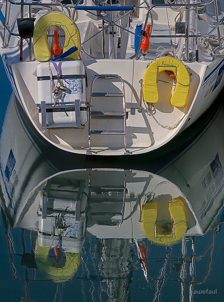 Moored on a mirror by awefaul