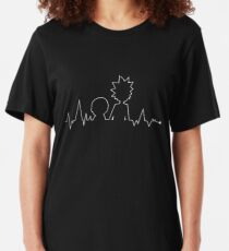 Heartbeat Rick and Morty Slim Fit T-Shirt