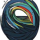 Abstrakte farbige Welle von masatomio