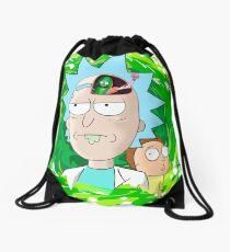 Rick and Morthy  Drawstring Bag