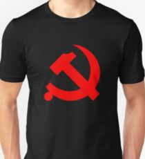 Chinese Communist Party Hammer and Sickle Unisex T-Shirt