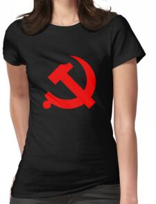Chinese Communist Party Hammer and Sickle Womens Fitted T-Shirt