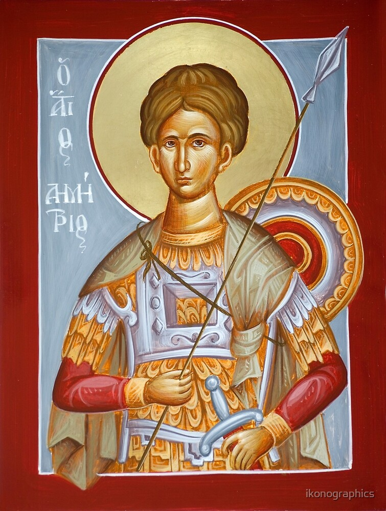 St Dimitrios the Myrrhstreamer by ikonographics