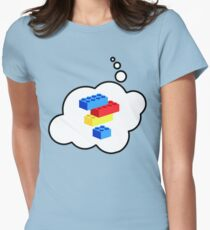 Bricks by Bubble-Tees.com Women's Fitted T-Shirt