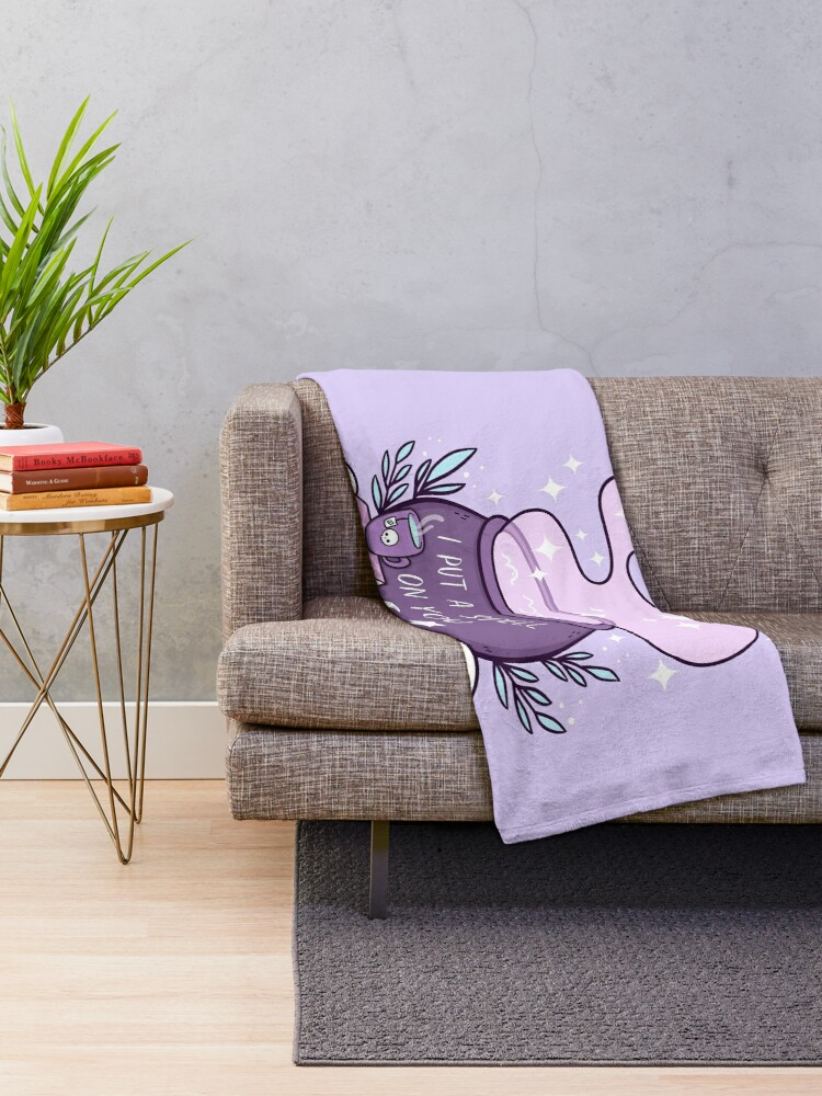 Alternate view of Witch Cauldron // Purple Throw Blanket