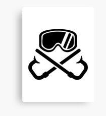 Crossed snorkles goggles Canvas Print