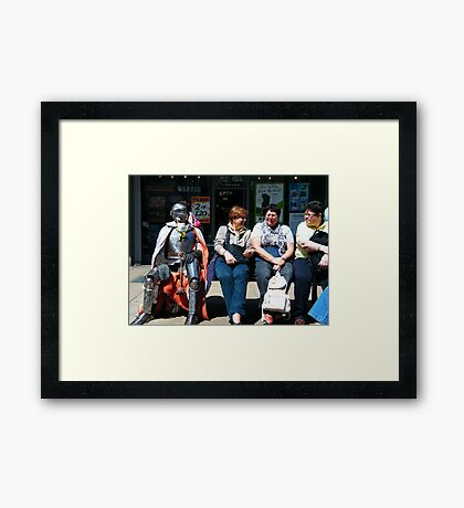 Knight in 'Shining' Armour Framed Print