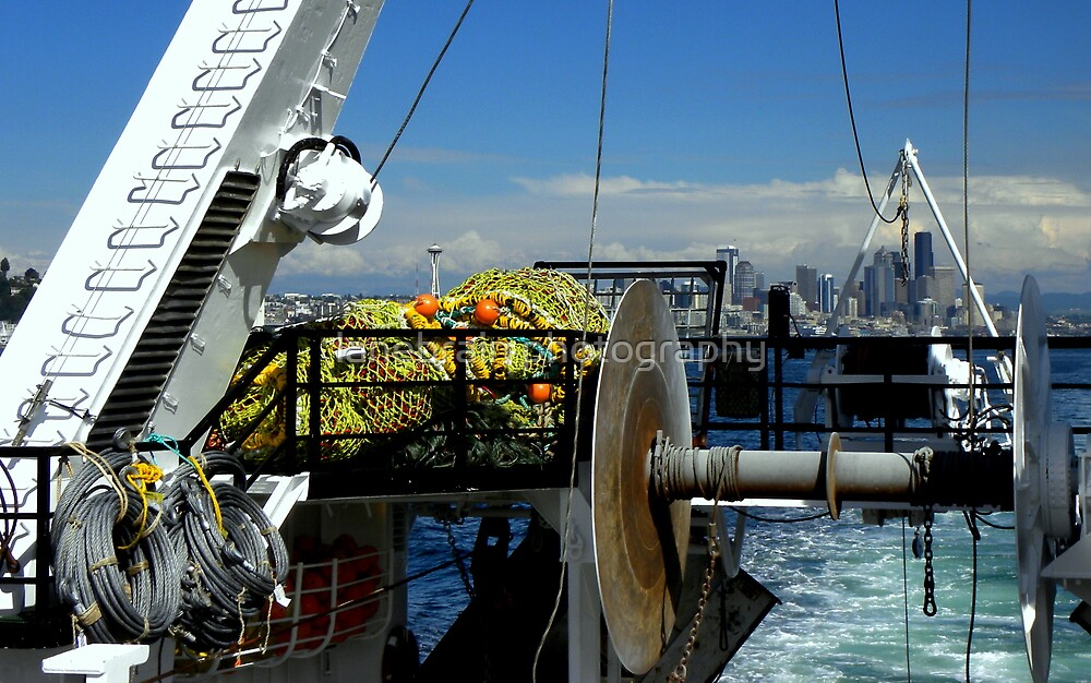Departure ~ Seattle WA ~ Commercial Fishing Vessel by lanebrain photography